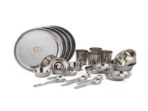 Dhanlaxmi Stainless Steel 24 PCs Dinner Set
