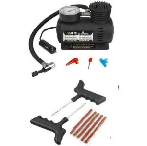 Premium I Air Compressor With Tyre Punture Repair Kit