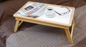 Multipurpose Wooden Foldable Bed Tray Laptop Table White Board