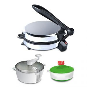 Kitchen Pro Electric Roti Khakra Pizza Maker - With Atta Maker Free Hotpot