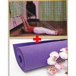 Great Combo Offer!!!-yoga -6mm Mat- Plus-yoga Rope-abdominal Exercise Rope