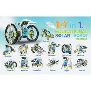 New 14-in-1 Solar Robot Kit Toy / 14 In 1 Solar Diy Robot Toy