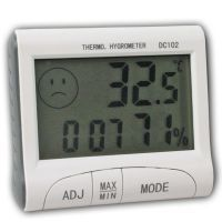 Digital Hygrometer Thermometer Humidity Meter Clock With Large LCD Display