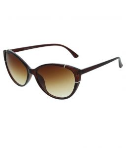 Cat Eye Brown Sunglasses For Womens
