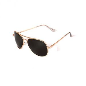 Lotto Golden And Green Aviator Sunglass