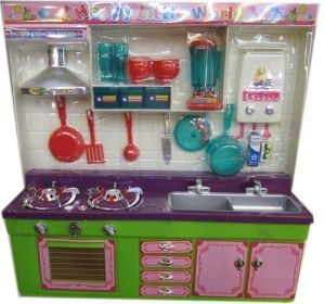 Blocks and activity sets - Birthday Gift For Kids Girls Modular Kitchen Set Battery Operated