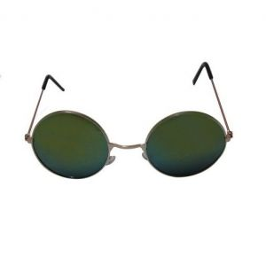 EDGE Plus Retro Round Black Sunglasses