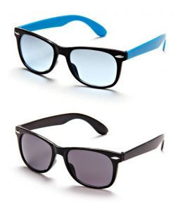 Black-blue Frame Wayfarer Sunglasses - Buy 1 Get 1 Free