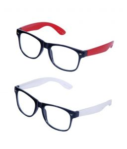 Wayfarer Style Sunglasses - Red & White Buy 1 Get 1 Free