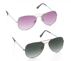 Artzz Cool Black Purple Aviator Buy 1 Get 1 Free