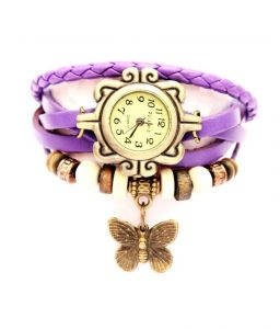 Vintage Style Leather Bracelet Watch For Women 265