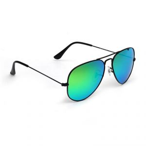 Hawai Green Mirror Lens With Black Frame Aviator