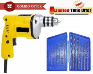 Special Combo Offer! Shopper52 Drill Machine With 13pcs Drill Bit Set