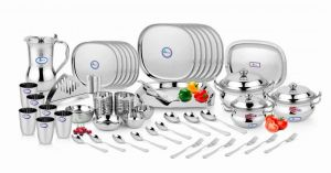 Airan Ruby Square Stainless Steel 60-piece Dinner Set-(product Code-air1026)