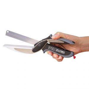 2 In 1 Kitchen Knife With Attached Chopping Board