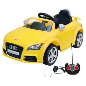 Remote Control Toys - Wheel Power Baby Battery Operated Ride On Car Audi 676 Ar Yellow
