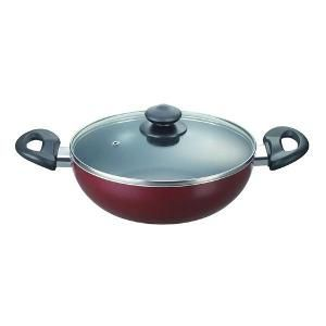 Nonstick Kadai Induction Base With Glass Lid