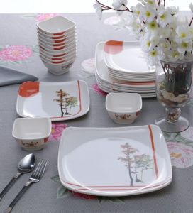 Machi Tall Tree Melamine Dinner Set - Set Of 24-(product Code-perfect_talltree_24)