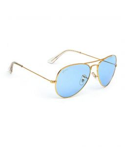 Hawai Blue Lens With Golden Frame Aviator