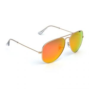 Hawai Orange Mirror Lens With Golden Frame Aviator