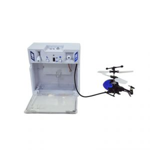 Shopmefast Mini Rc 2ch Radio Control Micro Motor Helicopter For Kids - Blue