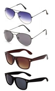 Set Of 4 Classic Sunglasses Combo For Men