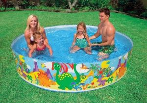 Inflatable Toys - Intex Non Inflatable 8 Feet Pool 58472.