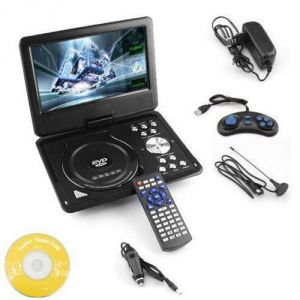 2016 Model 9.8 3d DVD Player Portable Evd With USB Playback TFT Swivel Flip Screen Game
