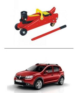 Autostark 2 Ton Professional Trolley Hydraulic Jack (red) For Renault Kwid