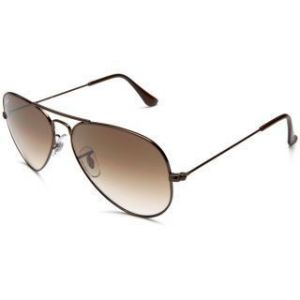 New Trendy Aviator Style Uv Protected Sunglass Brown Frame/brown Lens