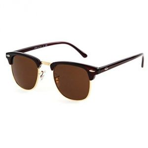 EDGE Plus Club Star Brown Sunglasses In Black