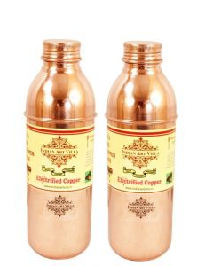 Pure Copper Set Of 2 Water Bottle 700 Ml Storgae Water Good Health Yoga