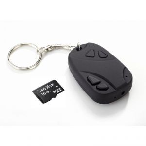 Perfecto Spy Key Chain Camera With 16 GB Micro SD