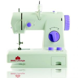 Sewing Machine - Bms Lifestyle Wonderpro Portable Electric Sewing Machine With Demo CD (white )
