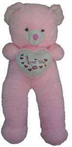 Pink 5 Feet Teddy Beart Heart I Love You