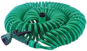 Jumbo 50 Feet Heavy Duty Flexible Spiral Hose Pipe For Washing Cars Garden