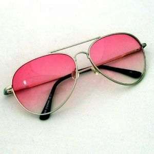 Stylish Pink Aviator Sunglasses