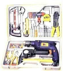 Power Tools - Jumbo Size Tool Kit Drill Machine Lot Of Acces
