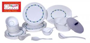 Dream Home Microsafe Dinner Set Printed Blue Round