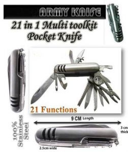 Grand Harvest 21 In 1 Swiss Army Camping Knife And A Multipurpose Toolkit