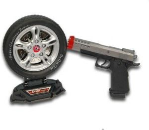 Dinoimpex Battery Operated Gun With Laser Targe