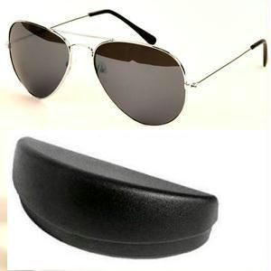 Classic Aviators Sunglasses With Silver Frame