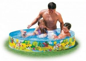 Intex Swimming Pool 4 Feet Without Air - 58474