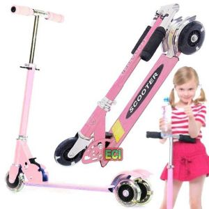 Eci Pink Just Start Kids Scooter Ride On Children Scooty Bike Folding Cycle