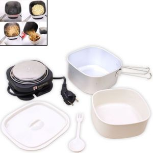 Electric Portable External Dual Voltage Electric Travel Cooker 4 Travelling