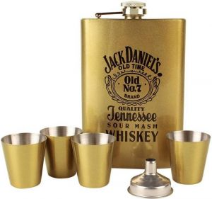 Bar Accessories - Shrih Stainless Steel 265 Ml Hip Flask Set