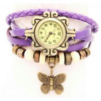Vintage Antique Retro Trendy Ladies Bracelet Watch - Purple