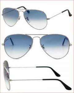 Trendy Aviator Style Uv Protected Sunglass Silver/light Blue Lens