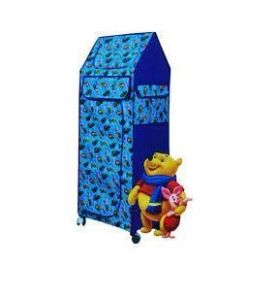 Attractive Folding Cloth Almirah With Wheels For Kids Room