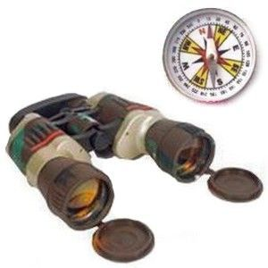 Russian Binocular With 38 MM Magnetic Compass